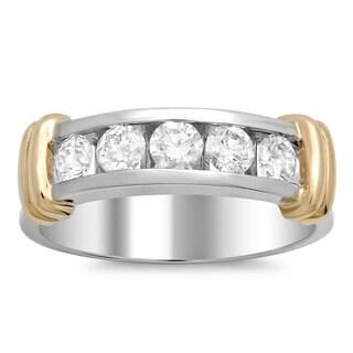 14k Gold Men's 1 1/4ct TDW Diamond Ring (E-F, VSI1-VS2)