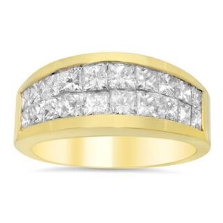 Artistry Collections 18k Yellow Gold 2ct TDW Diamond Ring (E-F, VS1-VS2)