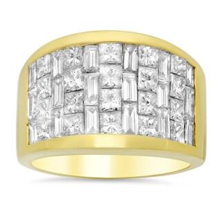 18k Yellow Gold 3 1/2ct TDW Diamond Ring (E-F, VS1-VS2)
