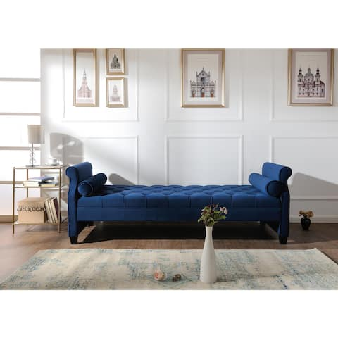 Gracewood Hollow Bajaj Tufted Upholstered Sofa Bed