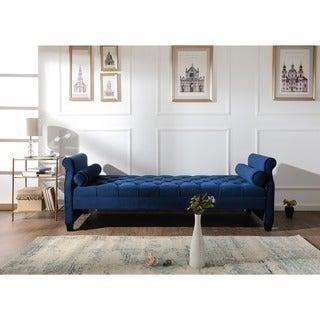 Jennifer Taylor Navy Blue Tufted Sofa Bed