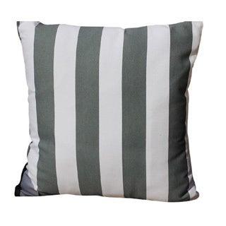 Decorative Cotton Grey, White Stripe Printed Throw Pillow Cover