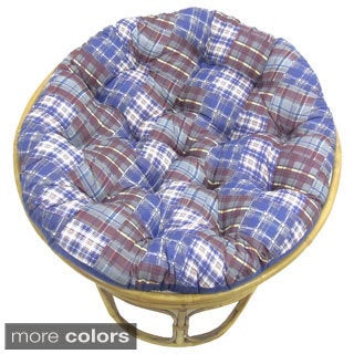 Celebration Plaid Patchwork Papasan Cushion