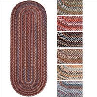 Rhody Rug Augusta Braided Wool Oval Runner (2' x 6') - 2' x 6'