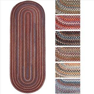 Rhody Rug Augusta Braided Wool Oval Runner (2' x 6')
