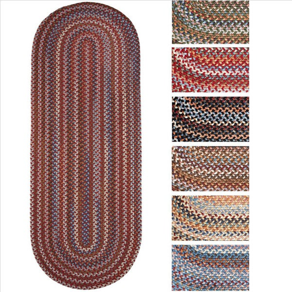 Shop Rhody Rug Augusta Braided Wool Oval Runner 2 X 6