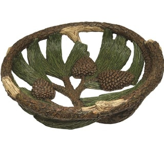 Rivers Edge Pine Cone 12-inch Fruit Bowl