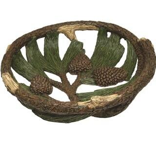 Rivers Edge Pine Cone 12-inch Fruit Bowl