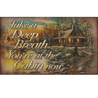 Take A Deep Breath You're At The Lake Now' Door Mat 30x17.7in