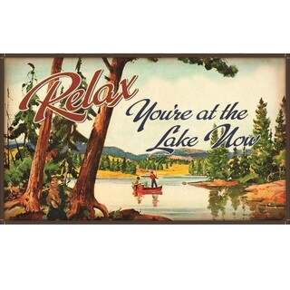 Relax You're At The Lake Now' Floor Mat (30 inch x 17 inch)