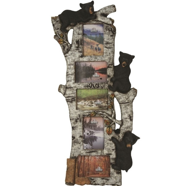 Rivers Edge 5 Photo Bear Birch Tree Frame (15 inches x 34 inches)