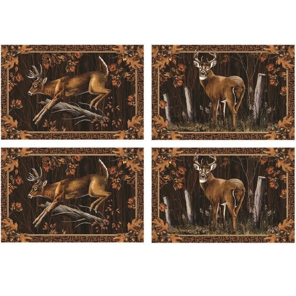 Rivers Edge 4 Piece Placemat Set