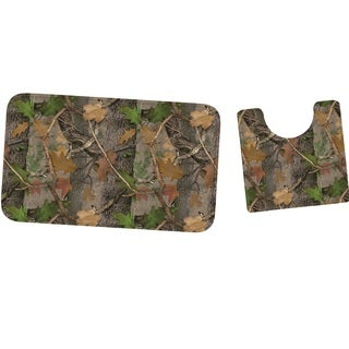 Rivers Edge Mat And Toilet Mat Set