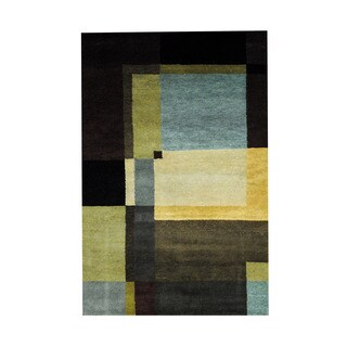 Herat Oriental Indo Hand-knotted Tribal Tibetan Wool Rug (3'6 x 5'6)