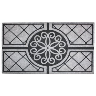 "Printed Flocked Medallion Granite Doormat (18"" x 30"")"