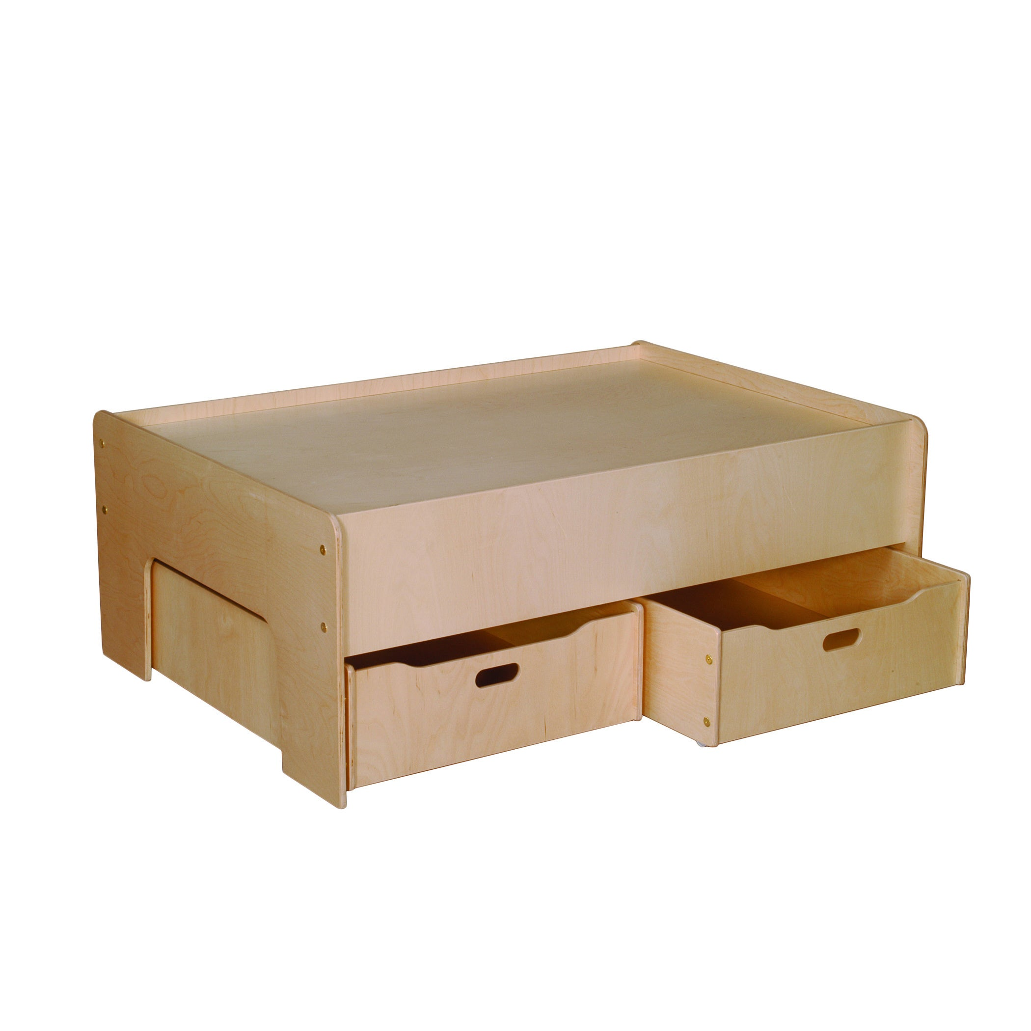 Little Colorado Baltic Birch Plywood Play Table and Stora...