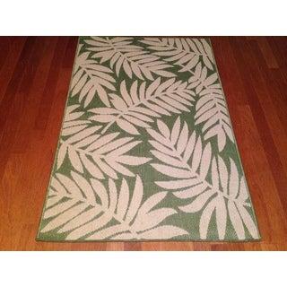 """Indoor/ Outdoor Green Floral Area Rug (6'5""""x 9'2"""")"""
