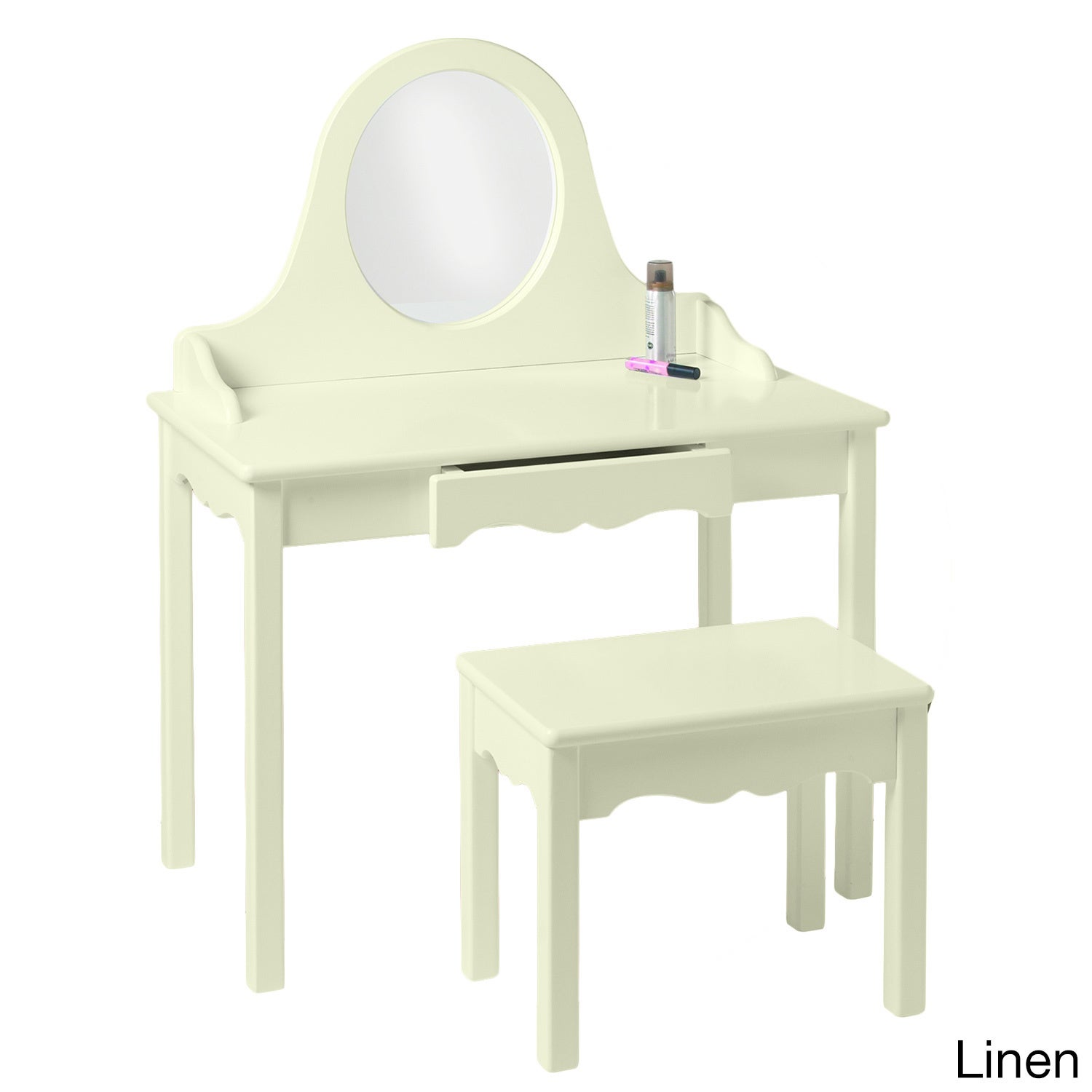 Little Colorado Child's Vanity and Bench Set (Linen)