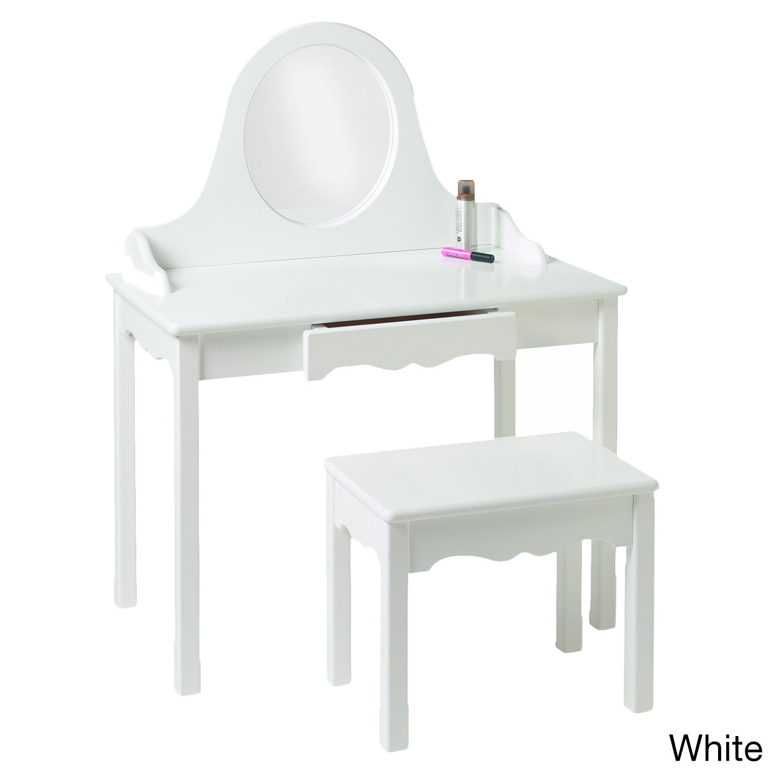 Little Colorado Child's Vanity and Bench Set (White)