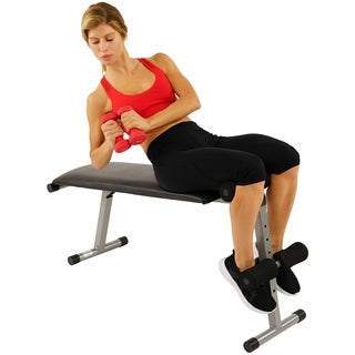 Sunny Health & Fitness SF-BH6505 2 IN 1 Flat/Sit-Up Bench
