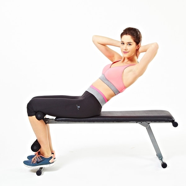 Sunny Health & Fitness SF-BH6505 2 IN 1 Flat/Sit-Up Bench - Silver