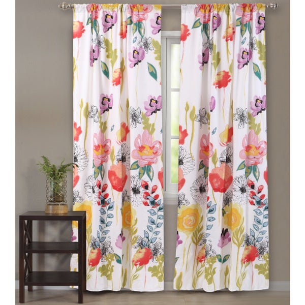 Greenland Home Fashions Watercolor Dream Curtain Panel Pair (Set of 2). Opens flyout.