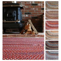 Rhody Rug Augusta Wool Oval Braided Area Rug (10' x 13') - 10' x 13'