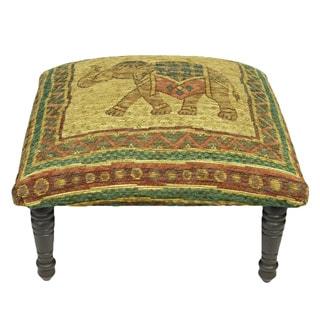 Corona Decor Vintage Elephant Design Footstool Ottoman