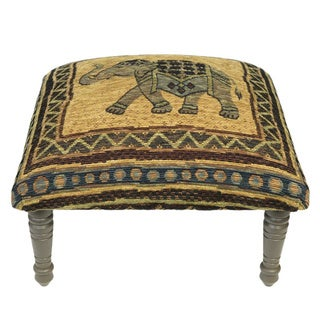 Corona Decor Vintage Elephant Design Footstool/Ottoman