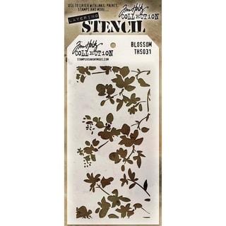 Tim Holtz Layered Stencil 4.125inX8.5inBlossom