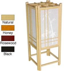Bamboo Tree Shoji Handmade 18-inch Rice Paper Accent Lamp (China)