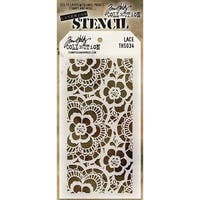 Tim Holtz Layered Stencil 4.125inX8.5inLace