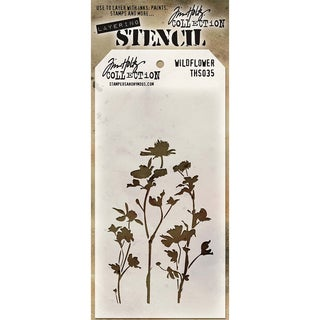 Tim Holtz Layered Stencil 4.125inX8.5inWildflower