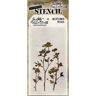 Tim Holtz Layered Stencil 4.125inX8.5inWildflower
