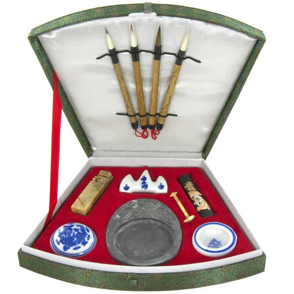 Handmade Compact Calligraphy Set (China)