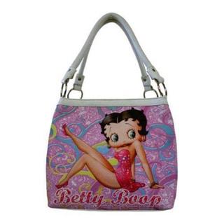 Women's Betty Boop Signature Product Betty Boop Medium Tote BP2083 White