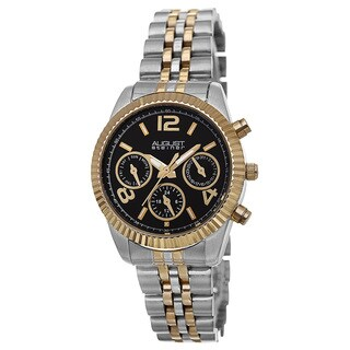 August Steiner Women's Swiss Quartz Multifunction Stainless Steel Two-Tone Bracelet Watch with FREE Bangle - GOLD