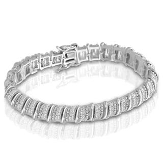 Platinum-plated 1ct Diamond Bracelet (J-K, I2-I3)