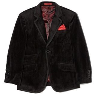 Boys' Slim-fit Velvet 1-button Jacket