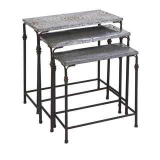 Gilbert Galvanized Nesting Tables (Set of 3)