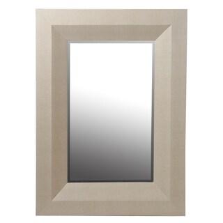 Privilege Beige 40-inch Shagreen Wall Mirror