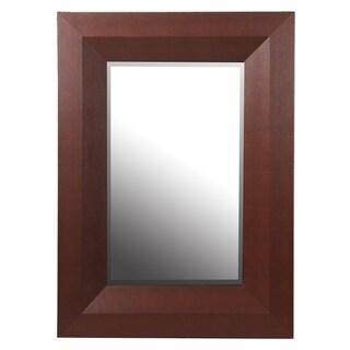 Privilege Brown 40-inch Shagreen Wall Mirror