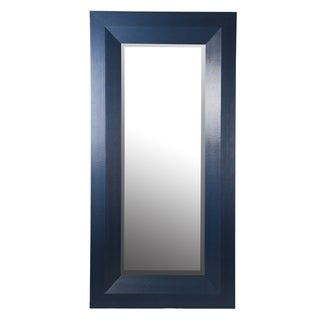 Privilege Blue 80-inch Shagreen Wall Mirror