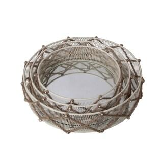 Privilege Cream 3-piece Metal Mirrors