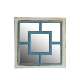 Privilege Square Wooden Wall Mirror