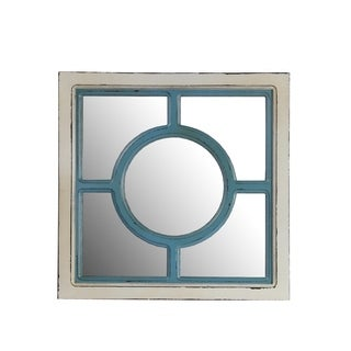 Privilege Circle Wooden Wall Mirror