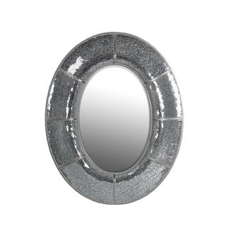 Privilege Beveled Oval Mosaic Mirror