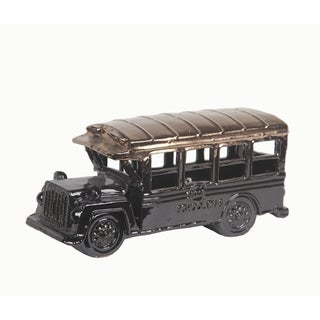 Privilege Copper/ Black Ceramic Vintage School Bus