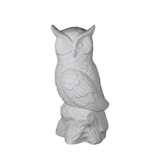 Privilege White Decorative Ceramic Owl
