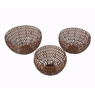 Privilege Brown Bowls (Set of 3)